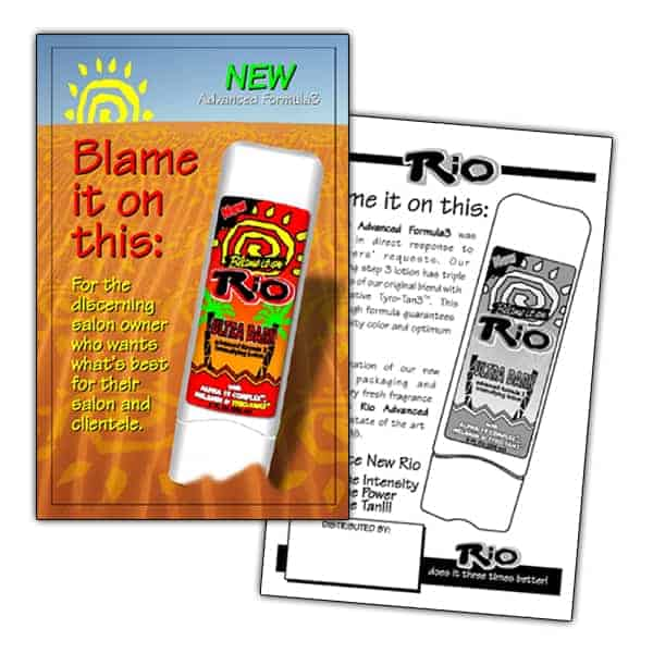 Sell-Sheet-Blame It On Rio Tanning Lotion