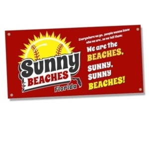 Sign-Sunny Beaches Banner