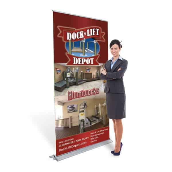 Dock & Lift Depot Exhibit Banner Stand