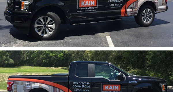 Kain Contracting Truck Wrap