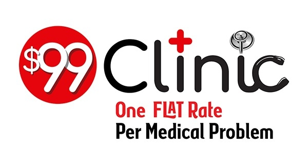 $99 Clinic Logo, horizontal version