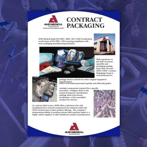 Flyer-Avid-Medical-Contract-Packaging