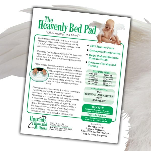 Sell-Sheet-Heavenly-Pillow-Mattress-Bed-Pad