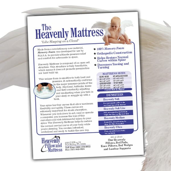 Sell-Sheet-Heavenly-Pillow-Mattress