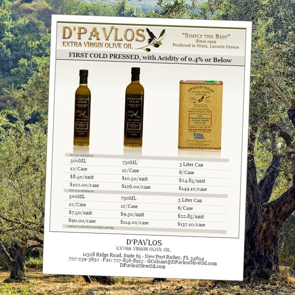 Sell-Sheet-dPavlos-Extra-Virgin-Olive-Oil